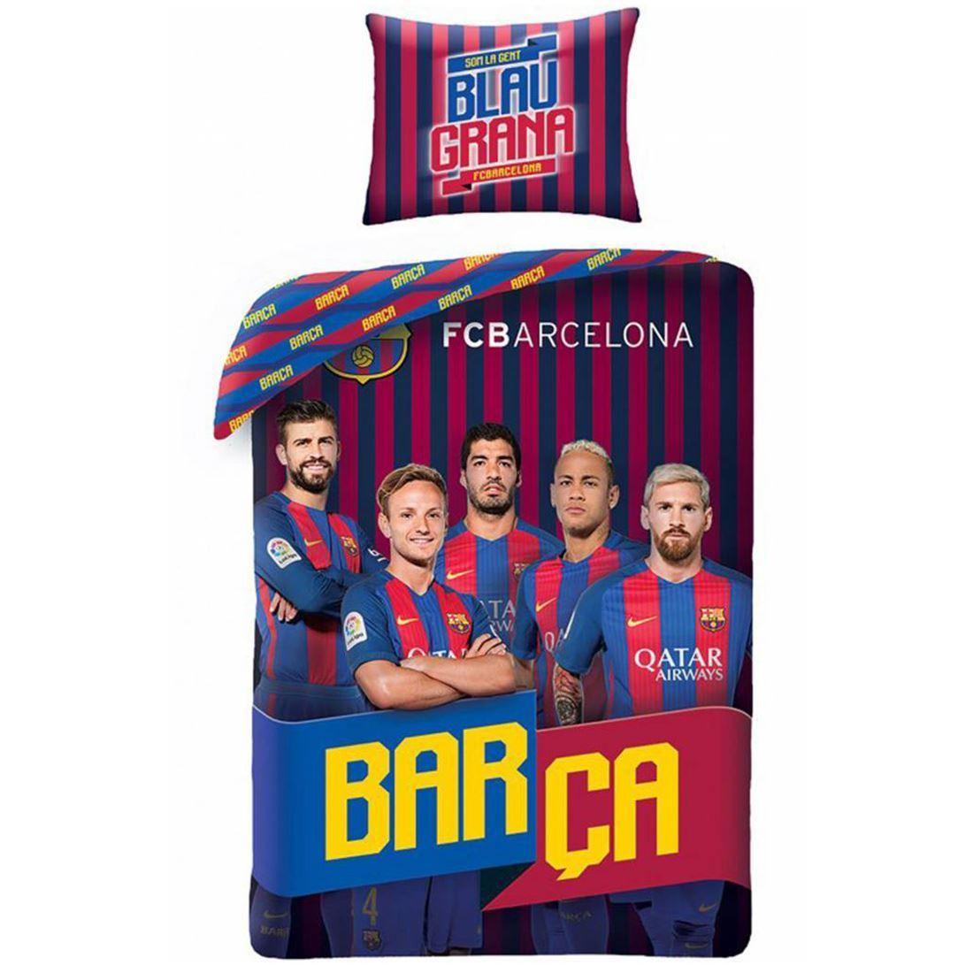 FC BARCELONA /'PATCH/' SINGLE DUVET COVER SET NEW BEDDING BARCA