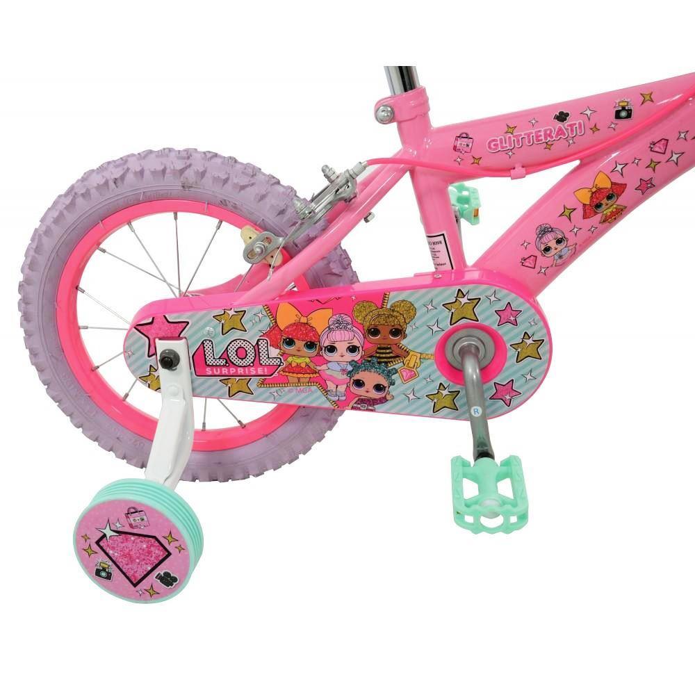 Dettagli Su Lol Sorpresa 14 Pollici Bicicletta Rimovibile Stabilizzatrici Bambini