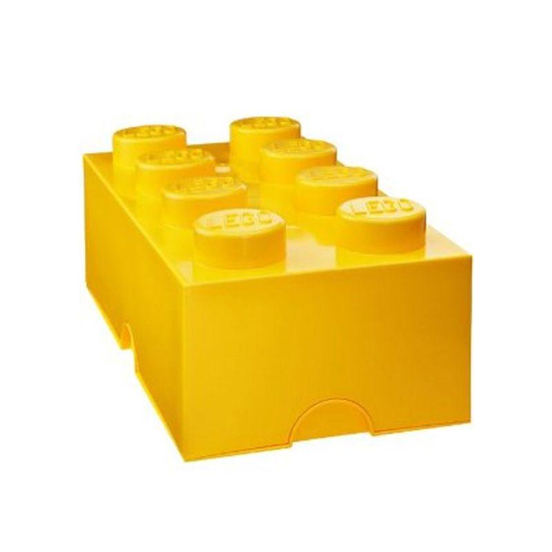 Lego storage brick box 8 boutons enfants chambre salle de jeux divers couleurs
