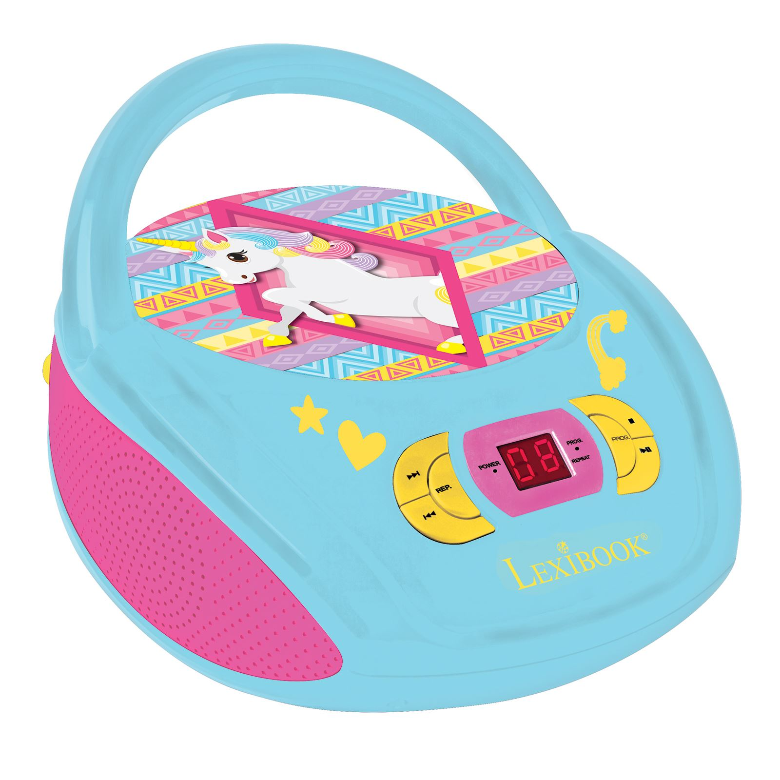 einhorn lexibook tragbar fm radio cd player blau rosa ebay. Black Bedroom Furniture Sets. Home Design Ideas