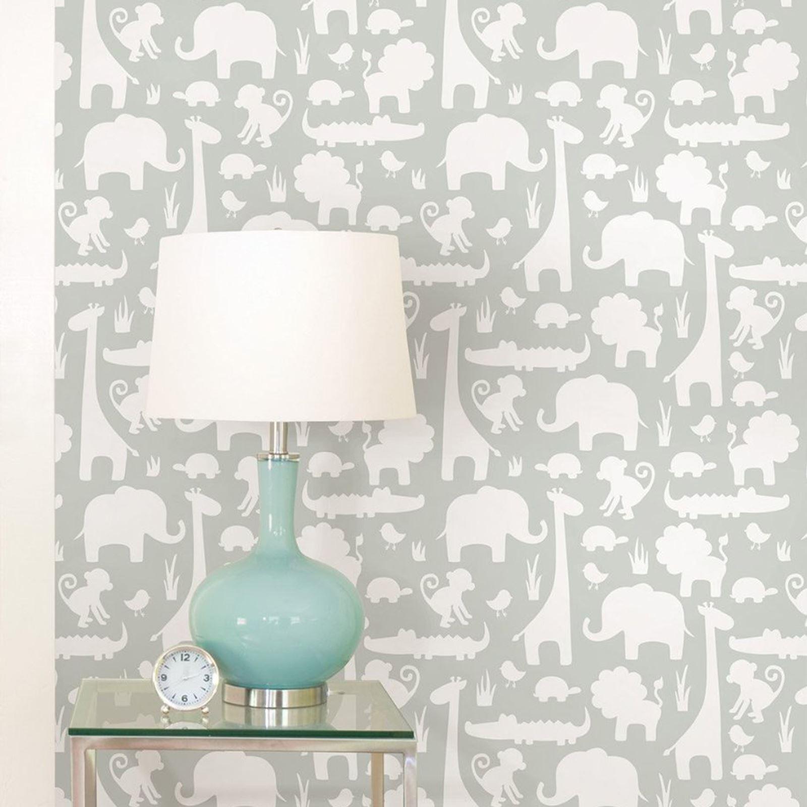 Peel stick nursery wallpapers kids bedroom various - Easy peel off wallpaper ...