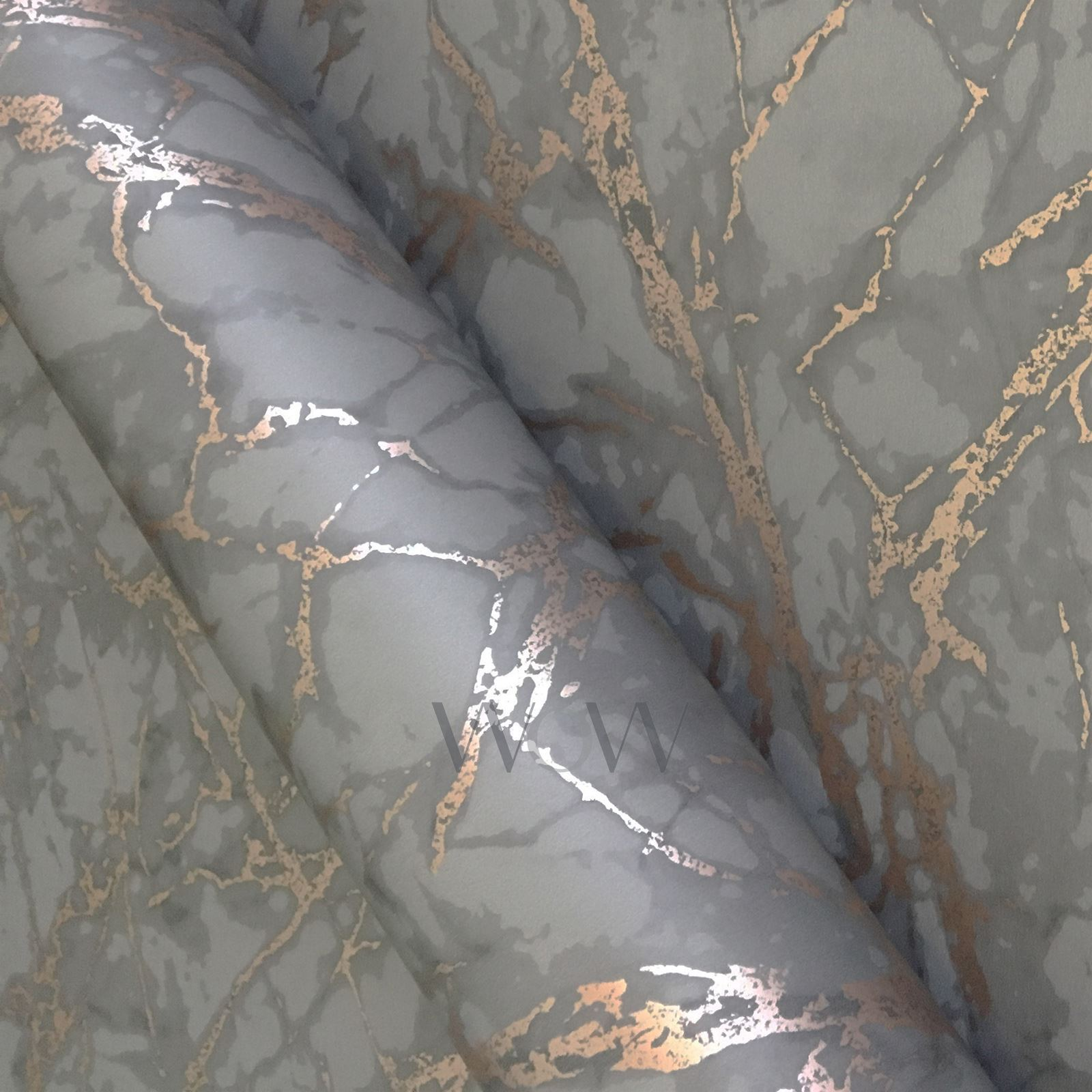 FINE-DECOR-METALLIC-GEOMETRIC-PLAIN-MARBLE-WALLPAPER-ROSE-GOLD-COPPER-SILVER thumbnail 16
