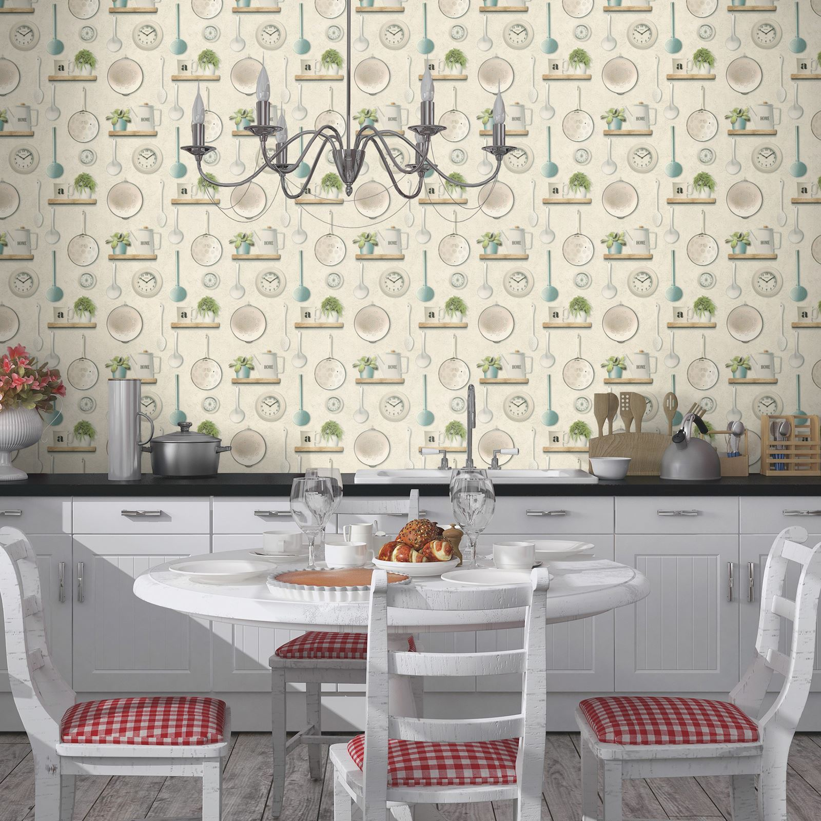 Kitchen Utensils Wallpaper rasch kitchen inspired wallpaper coffee shop kitchen utensils