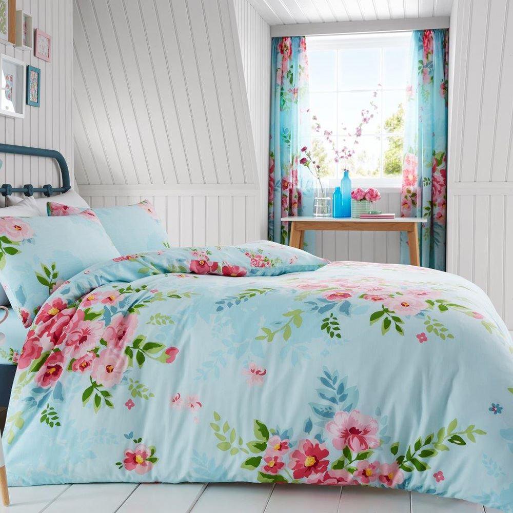 Alice Blumenmuster Kingsize Bettbezug Set Rosen Blumen