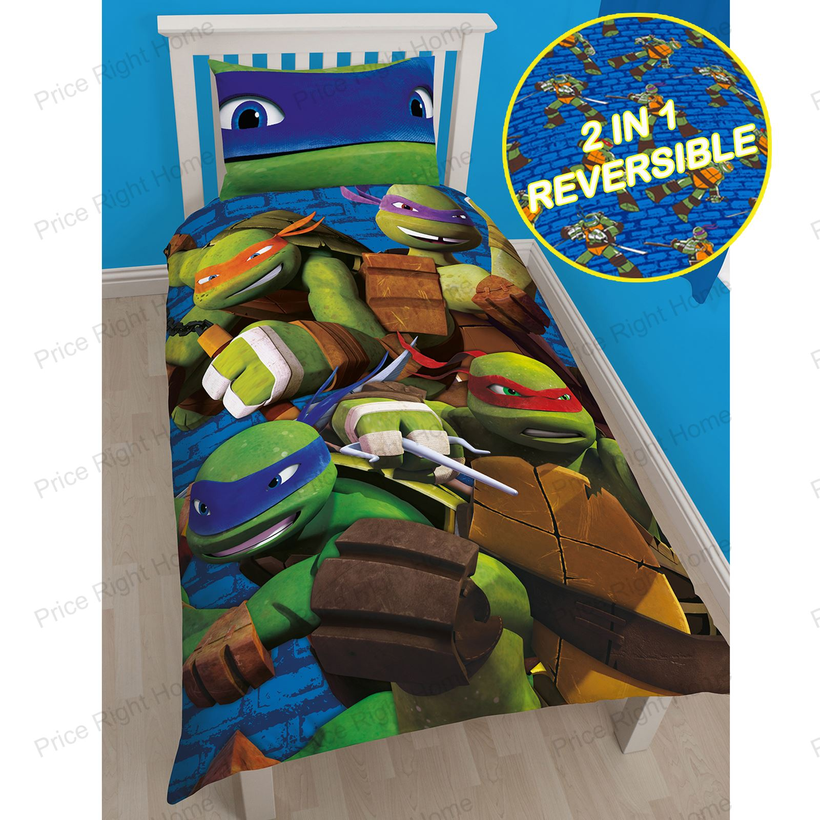 Teenage Mutant Ninja Turtles Bedding Single Duvet Cover