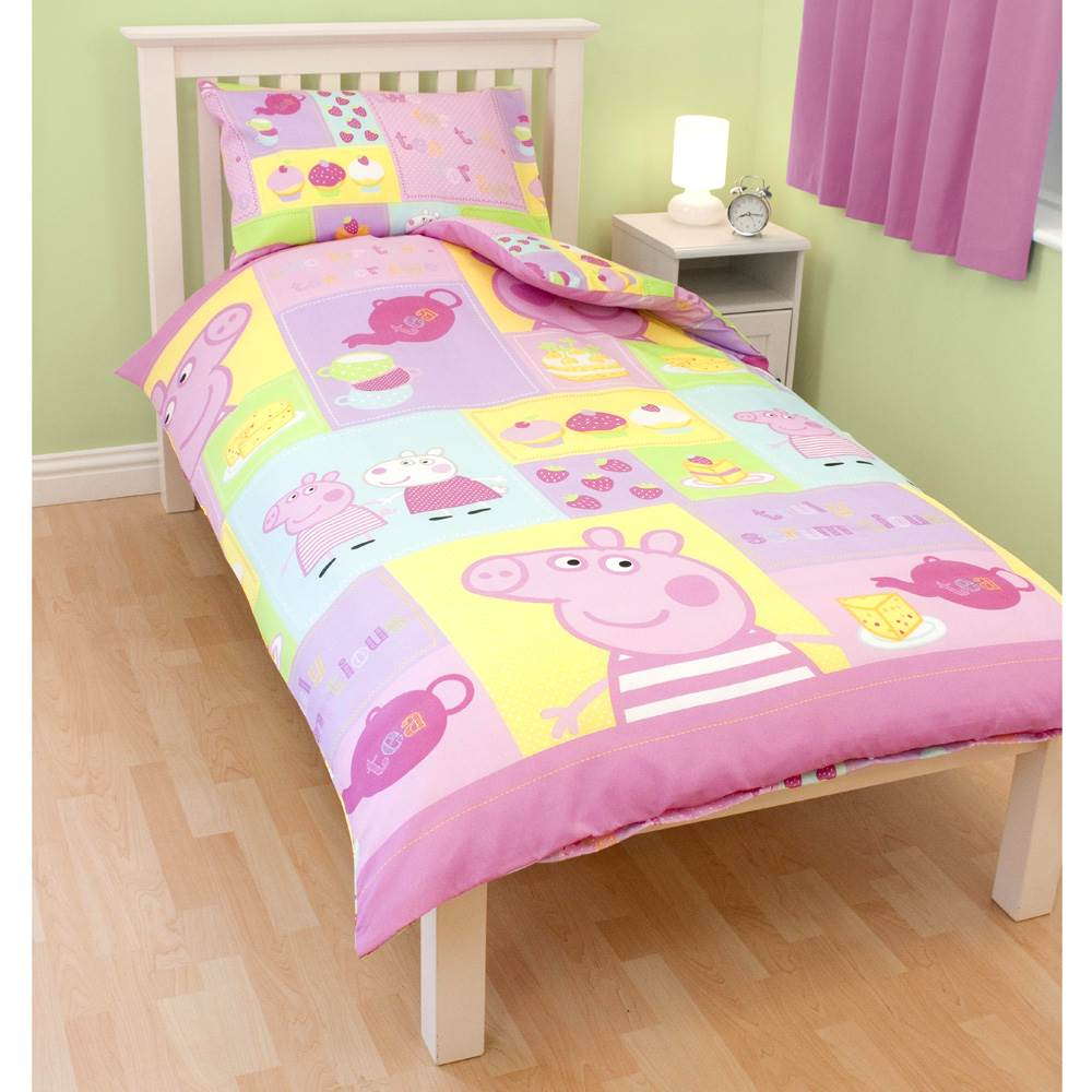 Official Peppa Pig Duvet Covers Sets Single Double Fitted