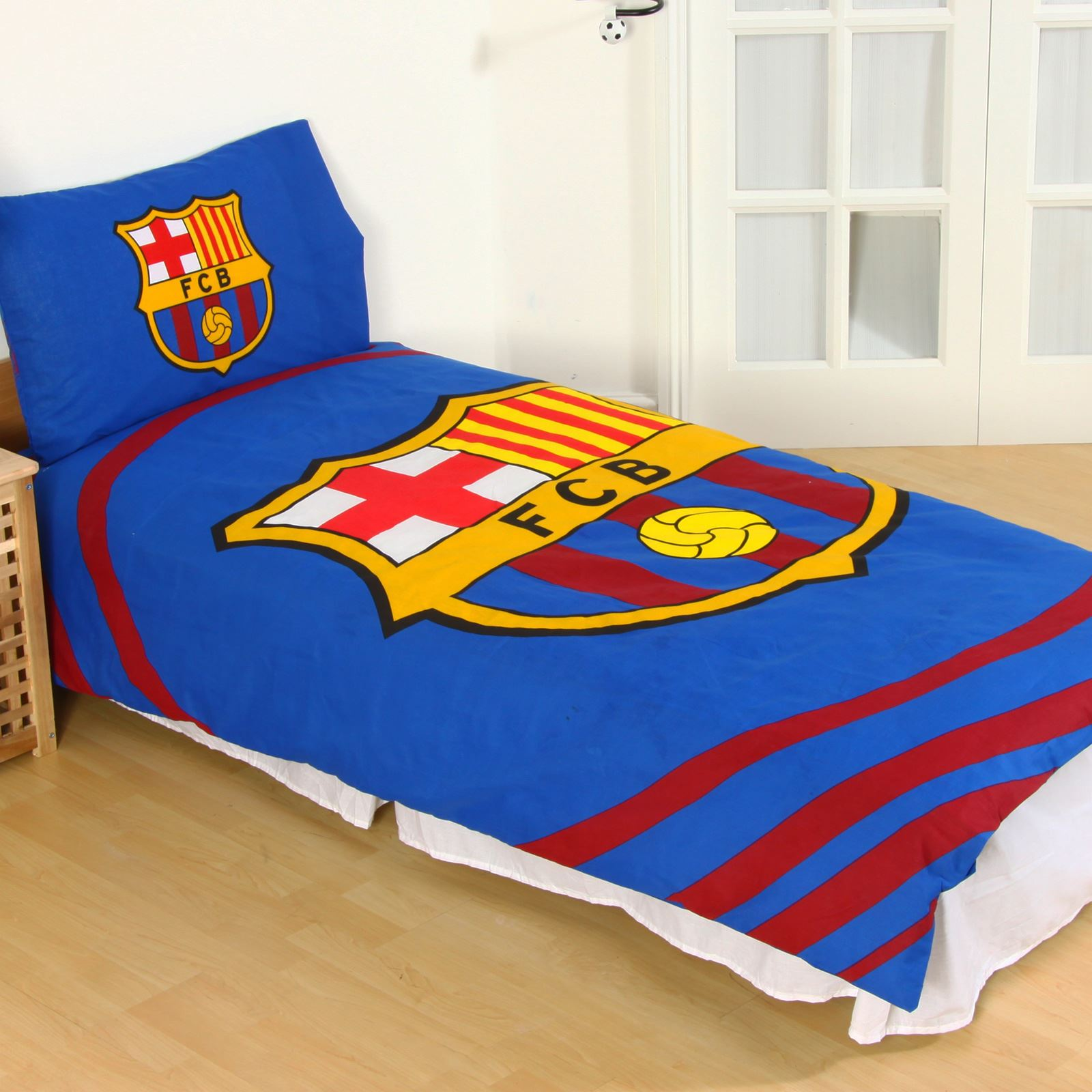Copripiumino Justin Bieber.Official Fc Barcelona Pulse Single Duvet Cover Set Kids Adults