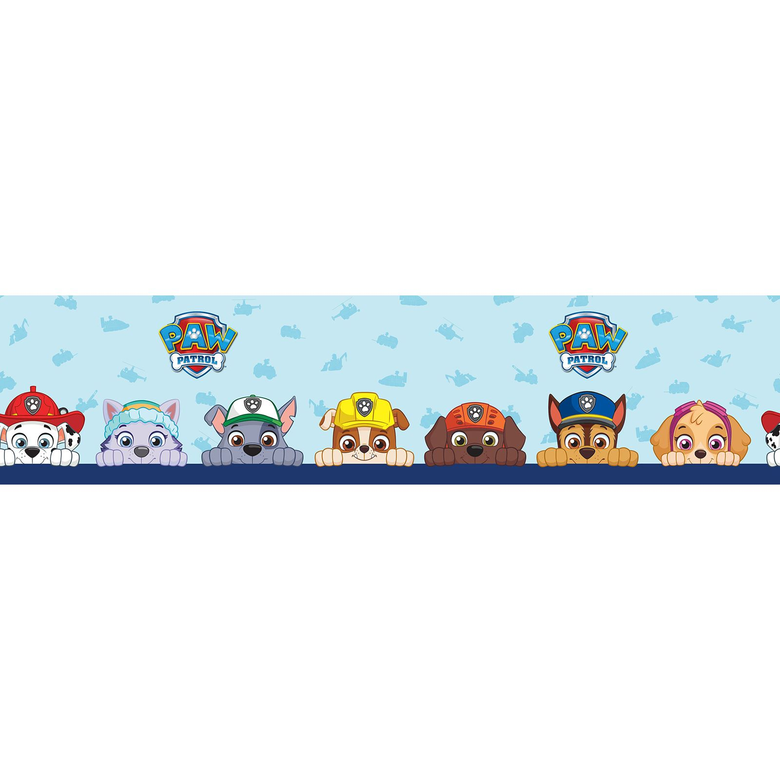 paw patrol self adhesive wallpaper border 5m long kids bedroom wall
