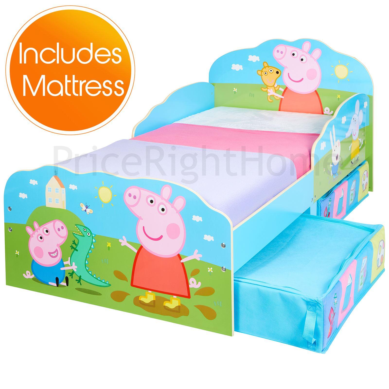 Peppa Pig junior cama infantil con cama inferior almacenaje + 3 ...