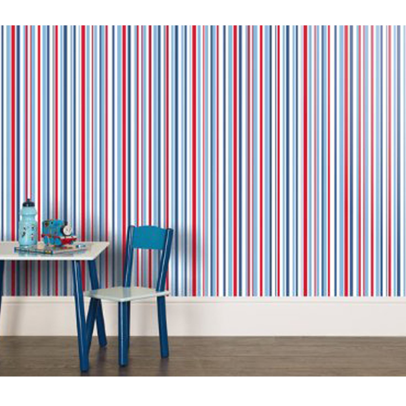 Blue stripe wallpaper ebay - Picture 46 Of 49