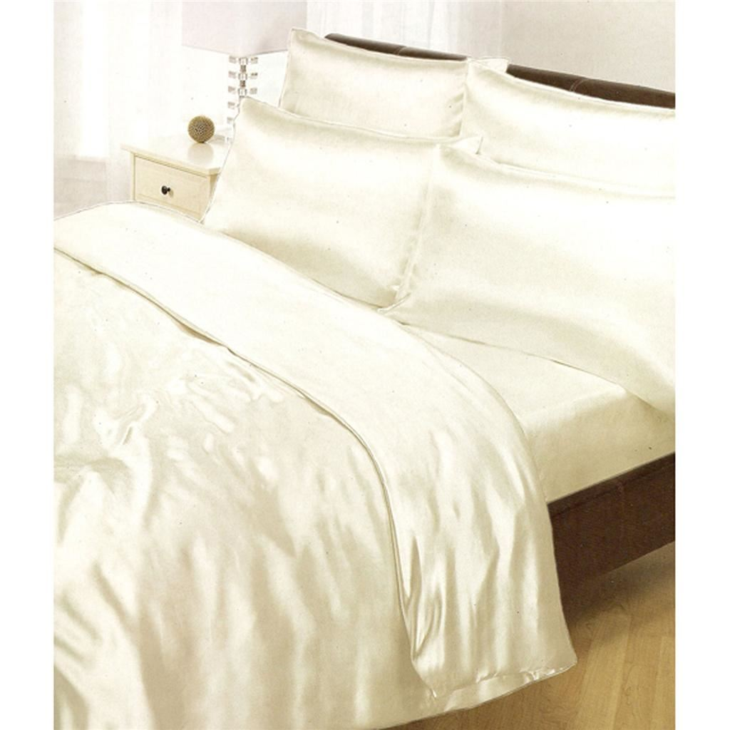 Bed Sets.Details About Satin Bedding Sets 6 4 Piece Duvet Cover Fitted Sheet Pillowcases