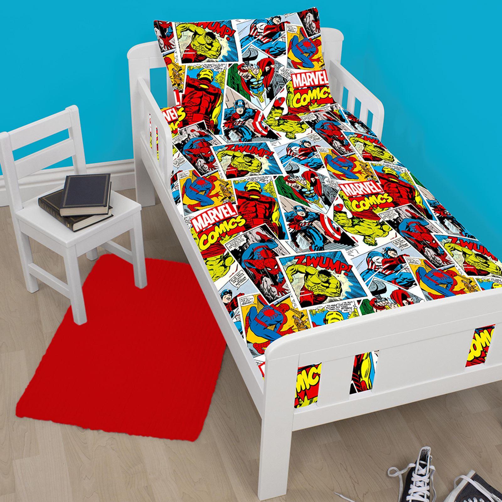 Marvel Comics Justice 4 In 1 Toddler Bedding Bundle Set Duvet