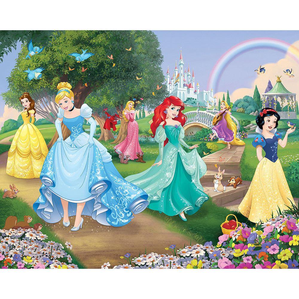 Detalles De Disney Princess Mural Para Pared Niños Habitación Niña Rasgo Secoración De 244m