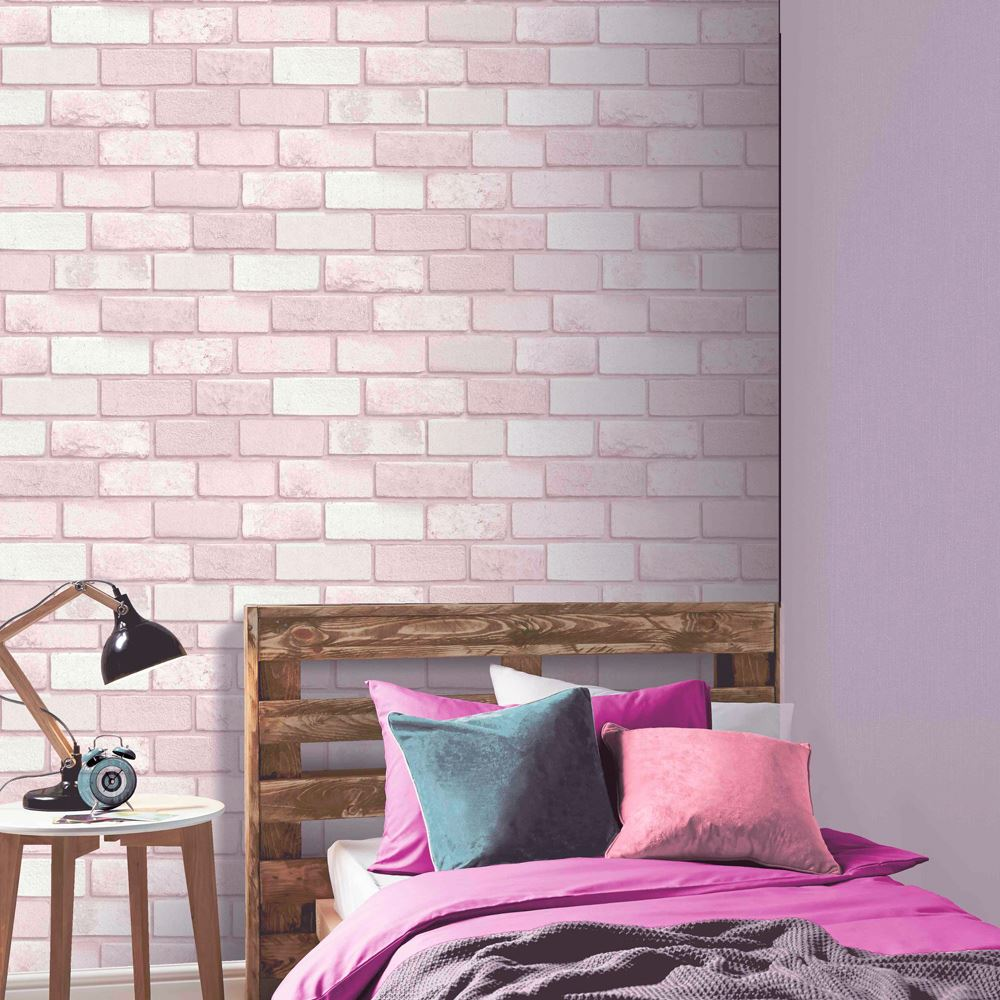 BRICK SLATE STONE EFFECT WALLPAPER - RUSTIC RED ...