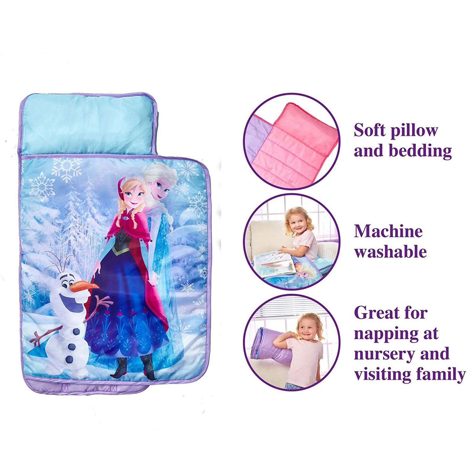 Disney Frozen Cosy Wrap Nap Bed Childrens Bedding New