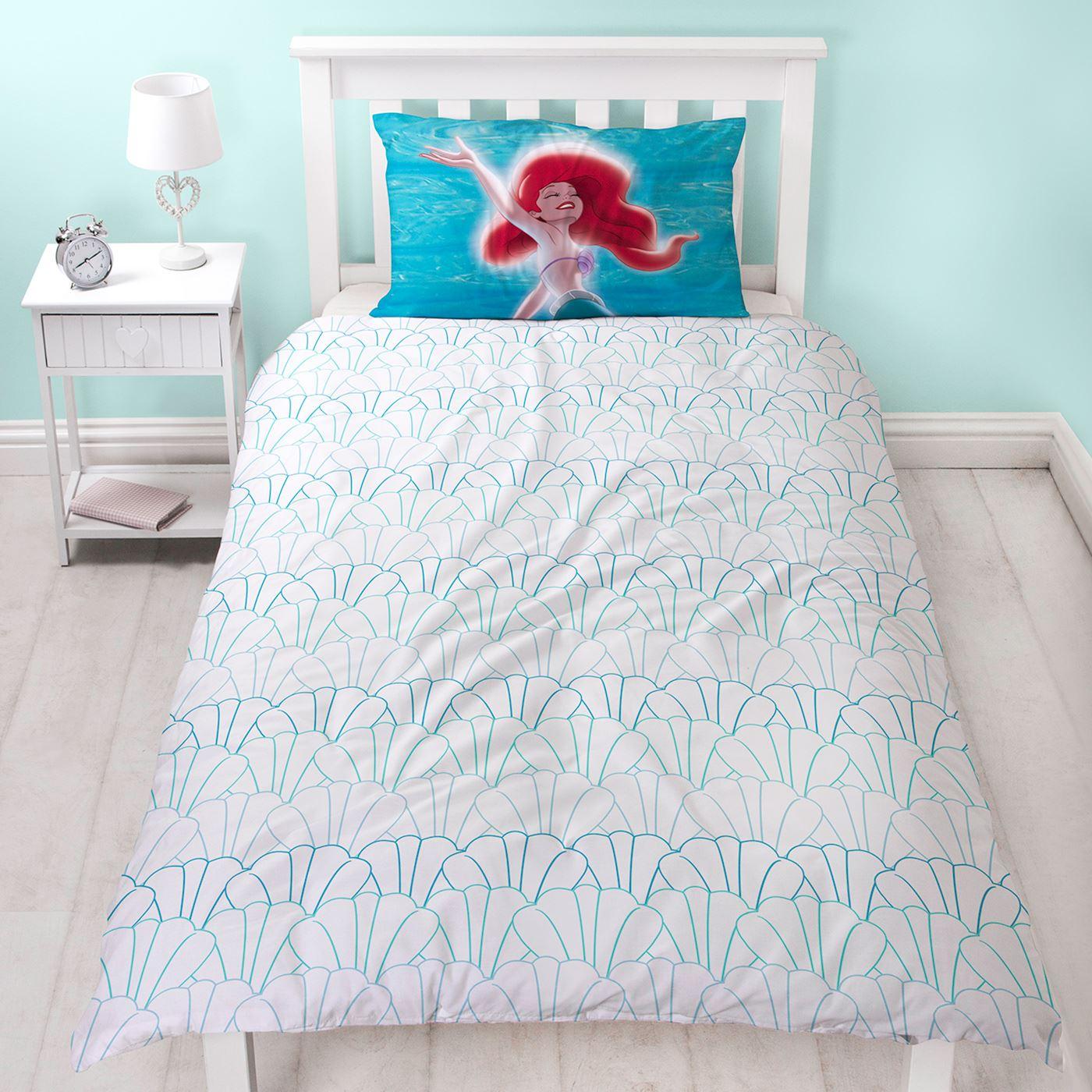 Disney Princess Ariel Mermaid Duvet Cover Set Curtains