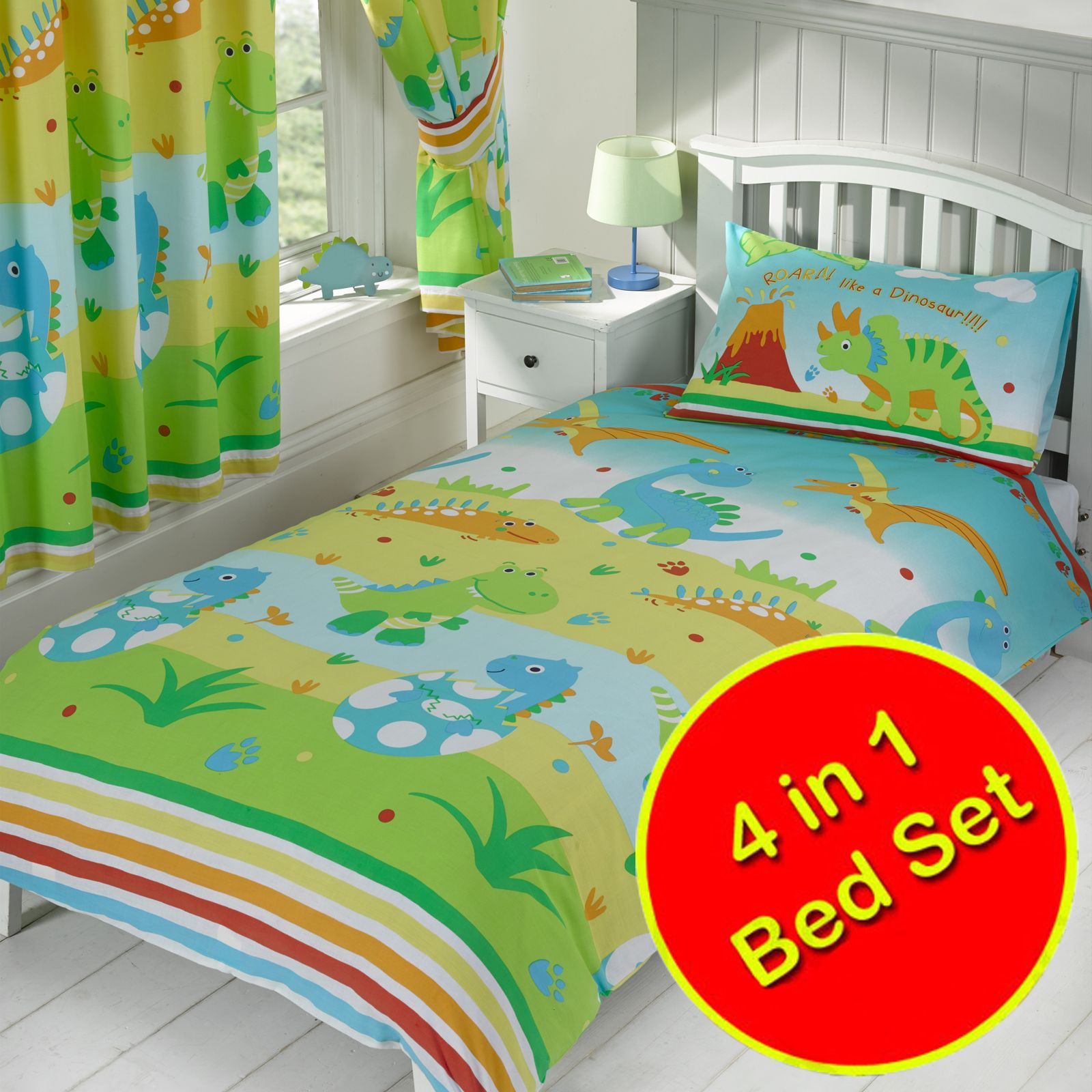 DINOSAUR BEDDING SINGLE DOUBLE Amp JUNIOR DUVET COVERS