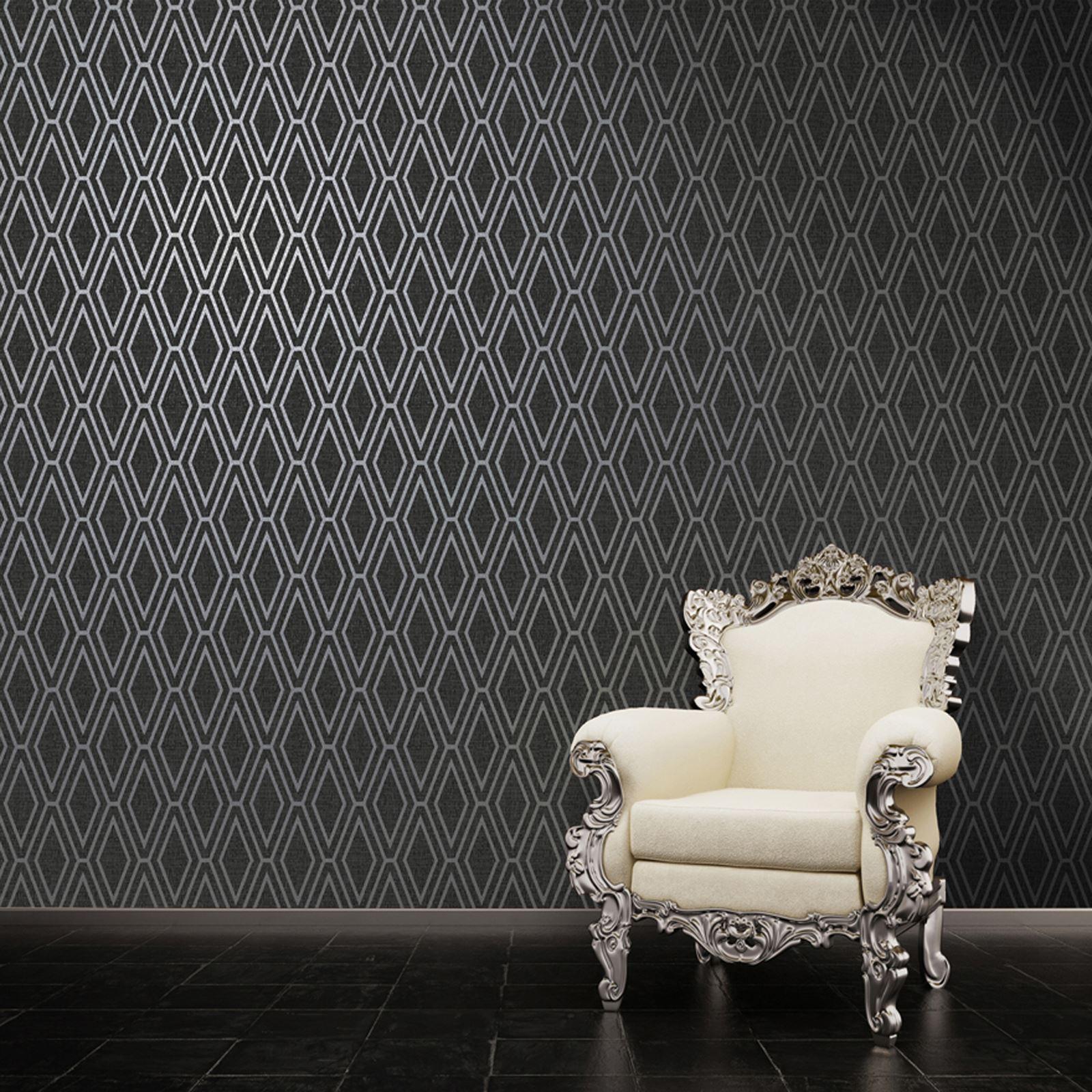 Holden Opulent Diamond Geometric Wallpaper Ebay
