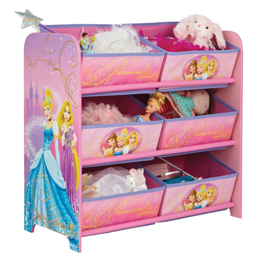 KIDS CHARACTER 6 BIN STORAGE UNIT BEDROOM FURNITURE DISNEY