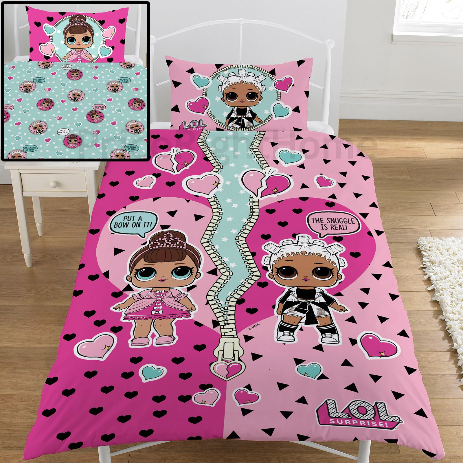 Lol Surprise Opposites Single Duvet Cover Set Reversible