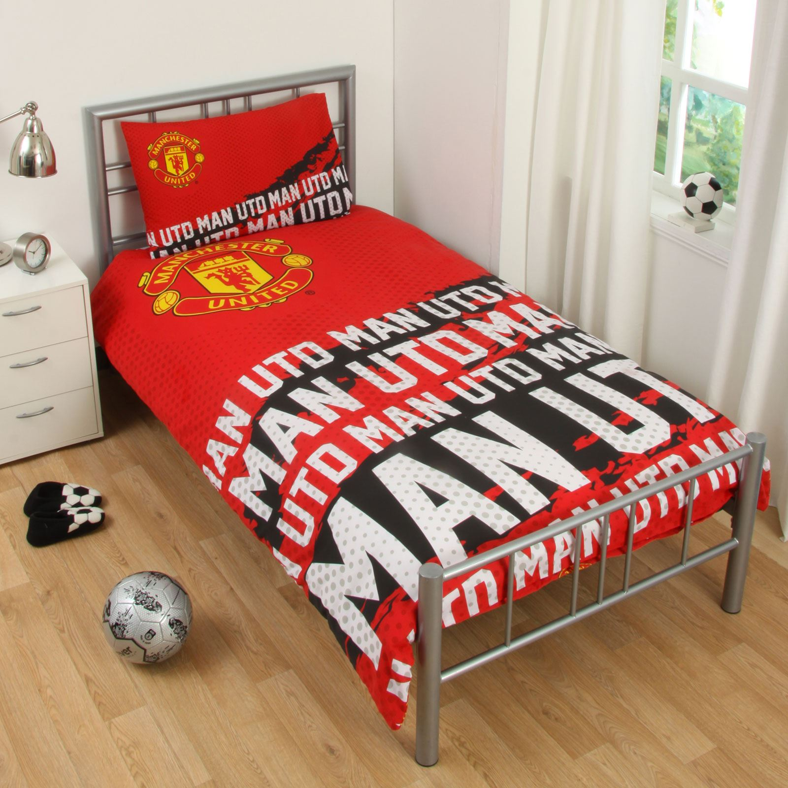 Home Furniture Diy Bedding Sets Duvet Covers Kids Manchester United Fc Print Football Club Single Duvet Quilt Cover Set Mtmstudioclub Com