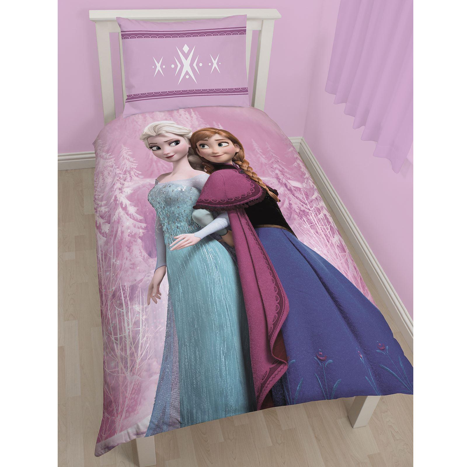 DISNEY FROZEN DUVET QUILT COVERS BEDDING JUNIOR SINGLE DOUBLE ANNA ... : frozen quilt cover - Adamdwight.com