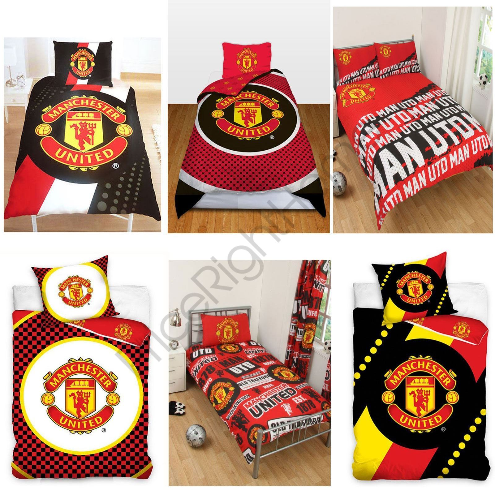 Manchester United Fc Single And Double Duvet Cover Sets Bedroom Bedding Free P P Ebay