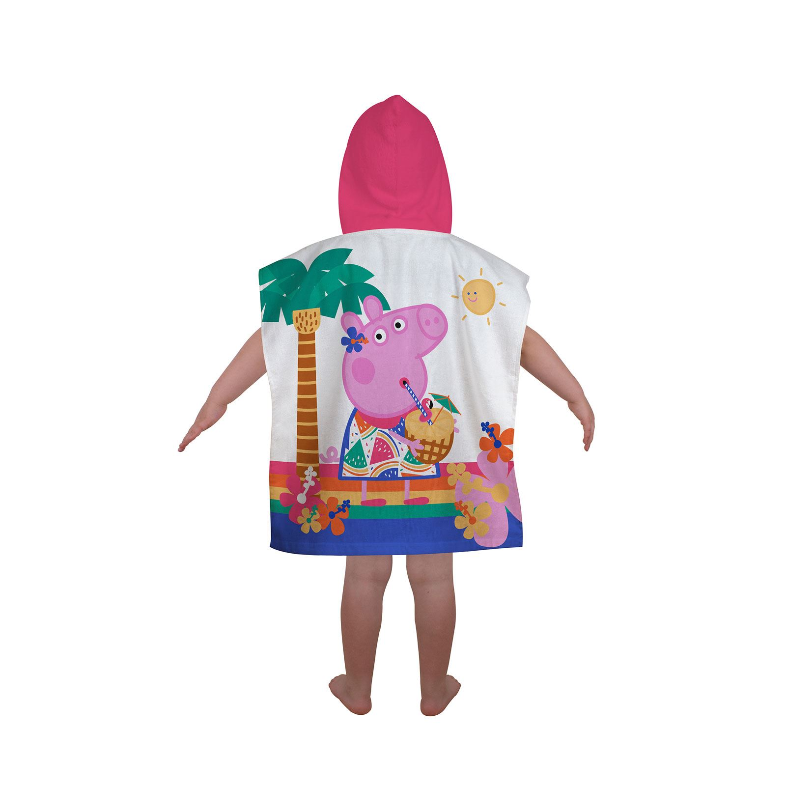 Peppa-Pig-George-100-Cotton-Beach-towels-amp-Hooded-Poncho-Boys-Girls-Kids miniature 5