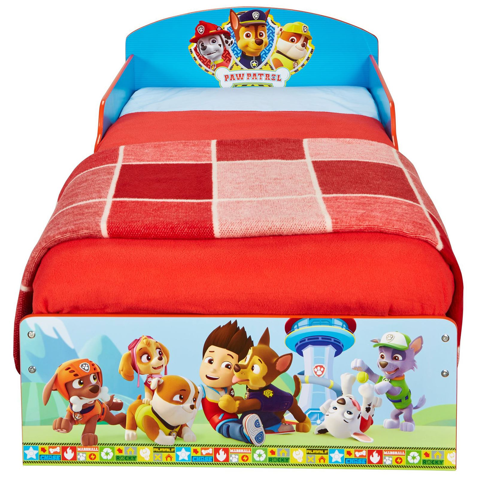 PAW PATROL TODDLER BED WITH FOAM MATTRESS BLUE WITH ...