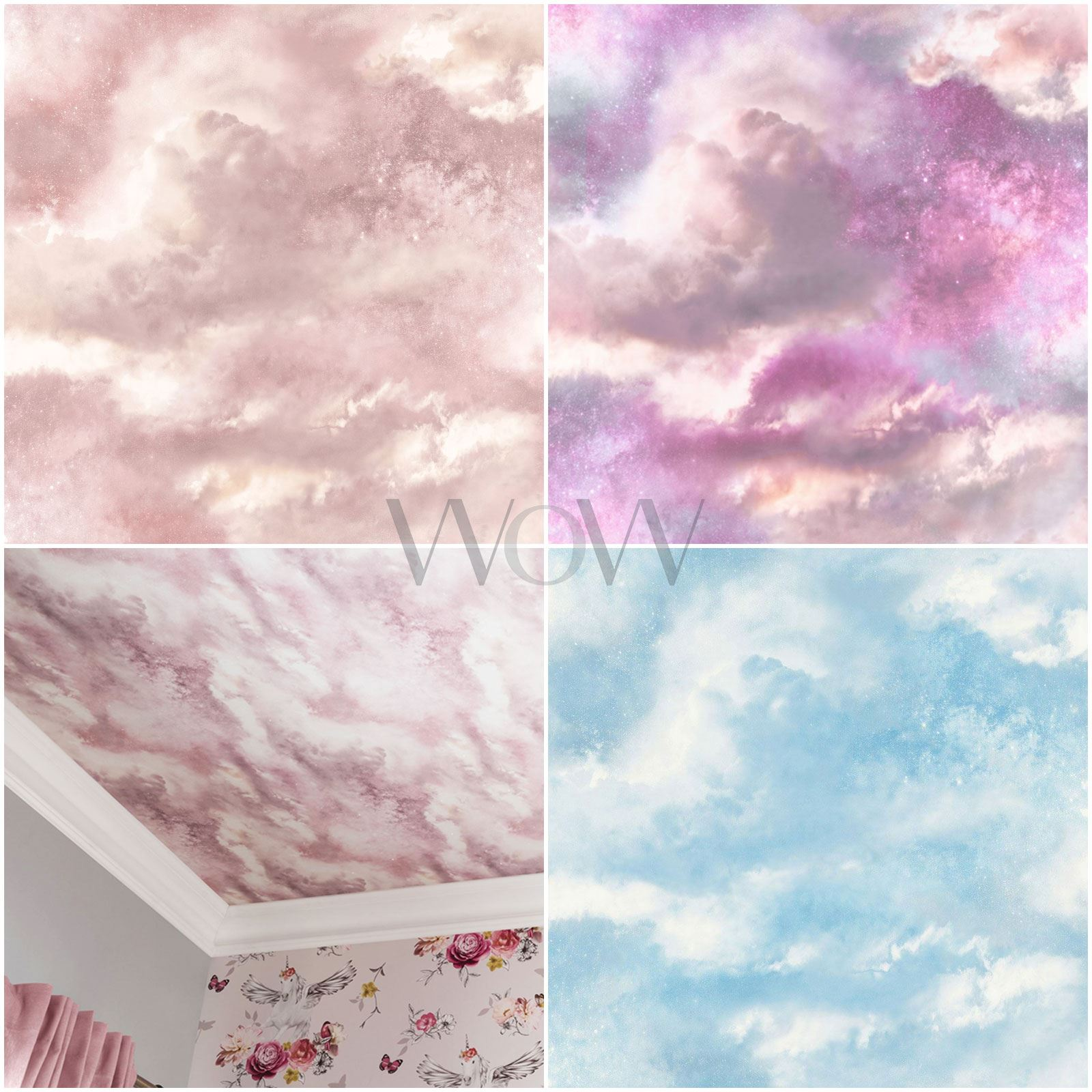 Arthouse Diamante Galaxy Cloud Carta Da Parati Spazio Glitter