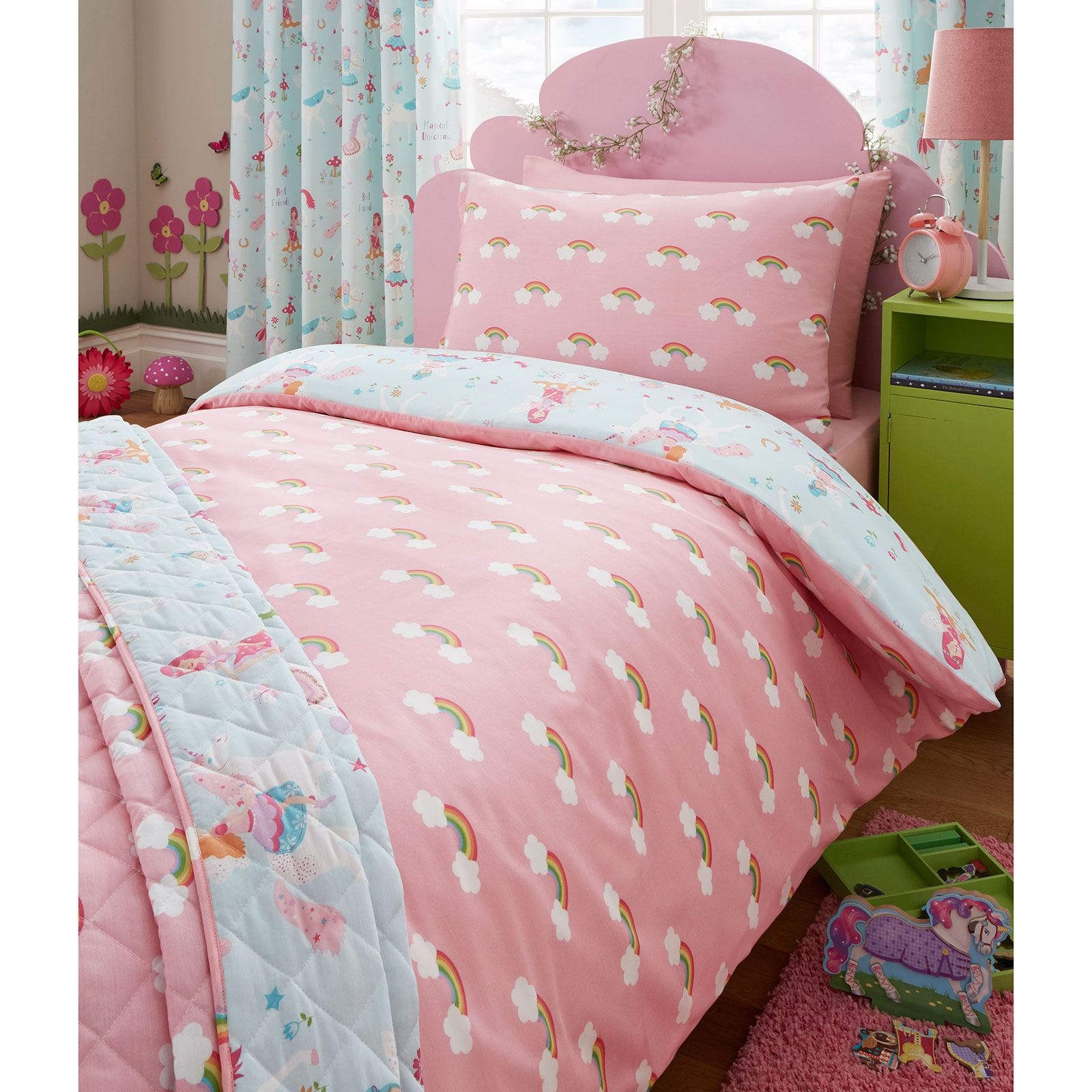 MAGICAL UNICORN JUNIOR DUVET COVER SET - KIDS BEDDING ...