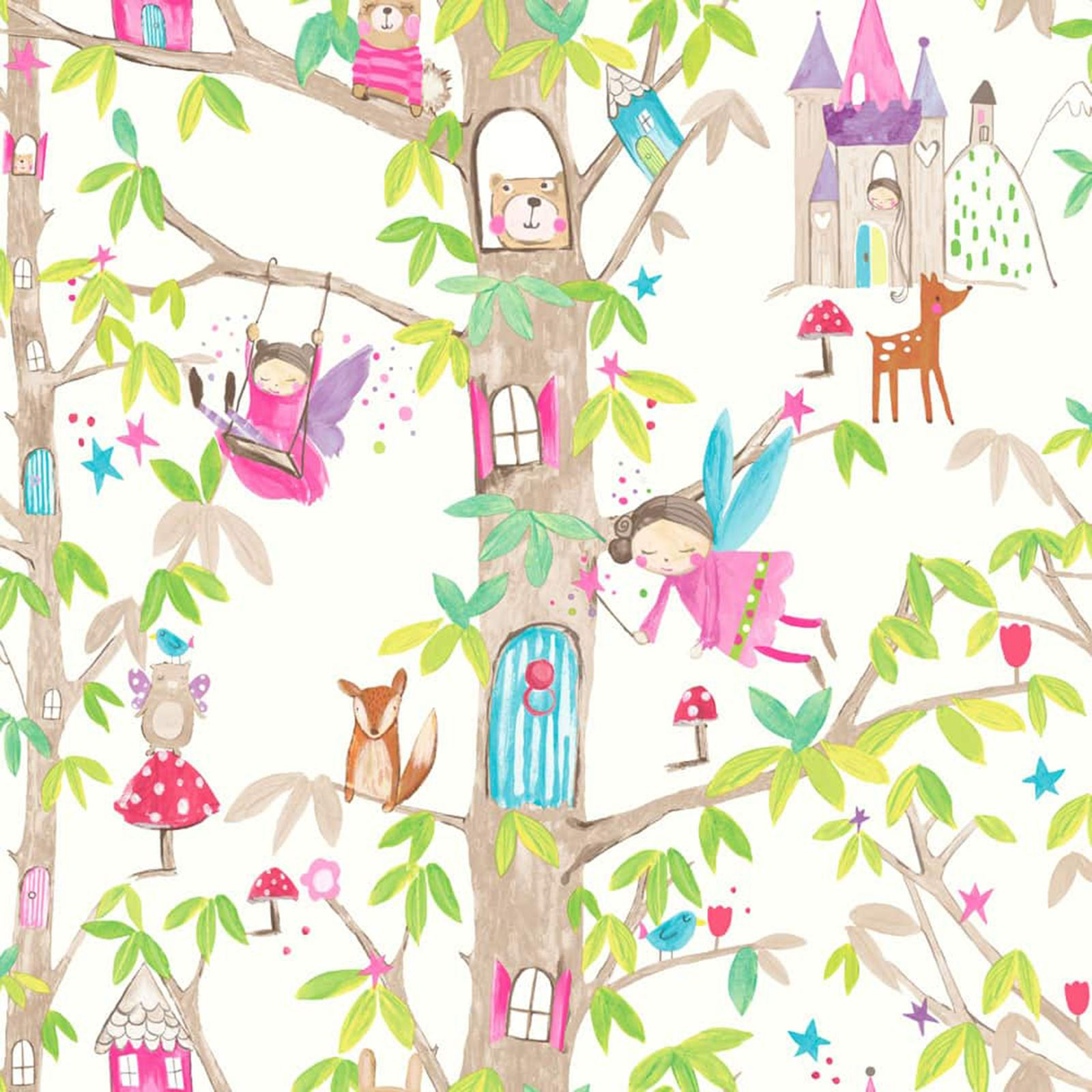 Captivating ARTHOUSE GLITTER DETAIL KIDS GIRLS BEDROOM WALLPAPER FEATURE