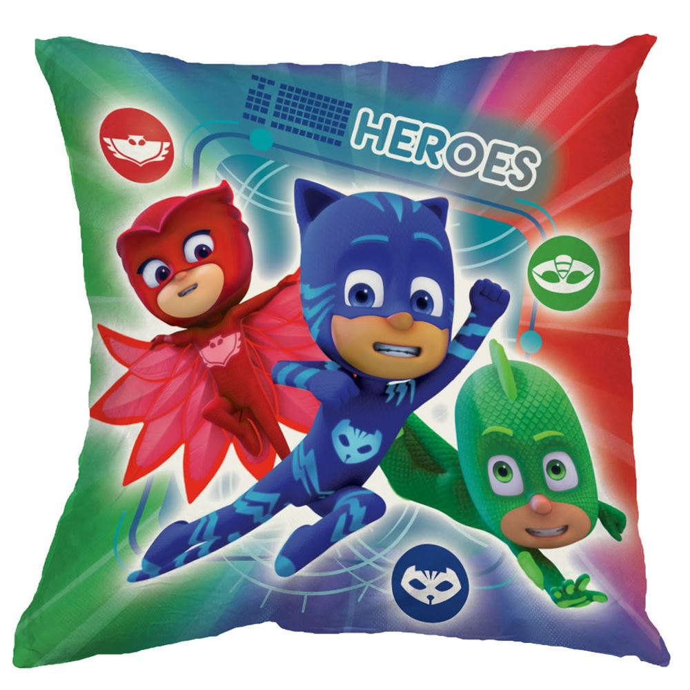 Pj Masks Heroes Vs Villains Filled Cushion Kids Reversible