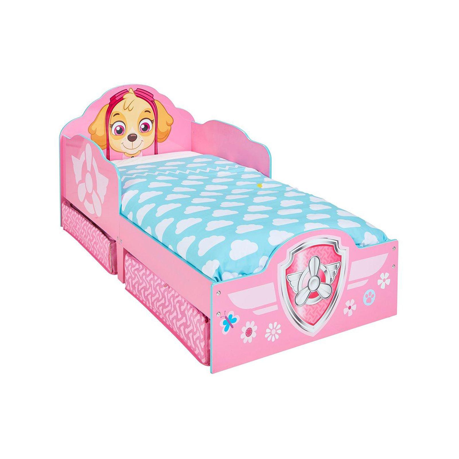 paw patrol skye kleinkind bett mit unterbett aufbewahrung m dchen kinder ebay. Black Bedroom Furniture Sets. Home Design Ideas