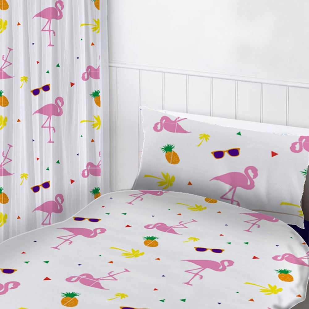 m dchen vorh nge 137cm 183cm drop einhorn ballerina prinzessin eule flamingo ebay. Black Bedroom Furniture Sets. Home Design Ideas