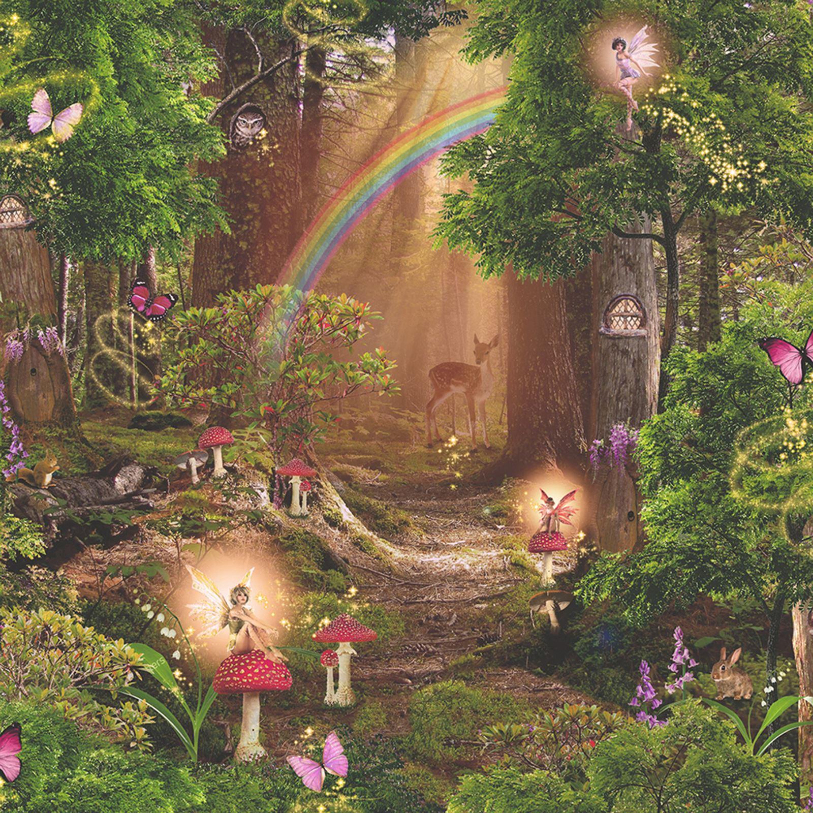 Magic fairy garden wallpaper arthouse 696009 fairies new for Arthouse jardin wallpaper