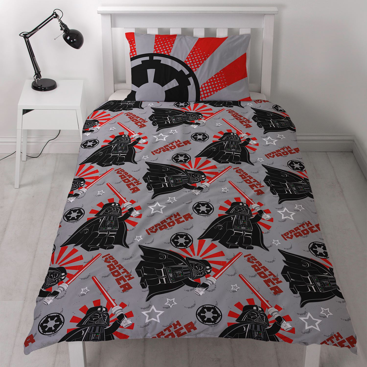 Lego Star Wars Imperial Single Duvet Cover Set Darth Vader