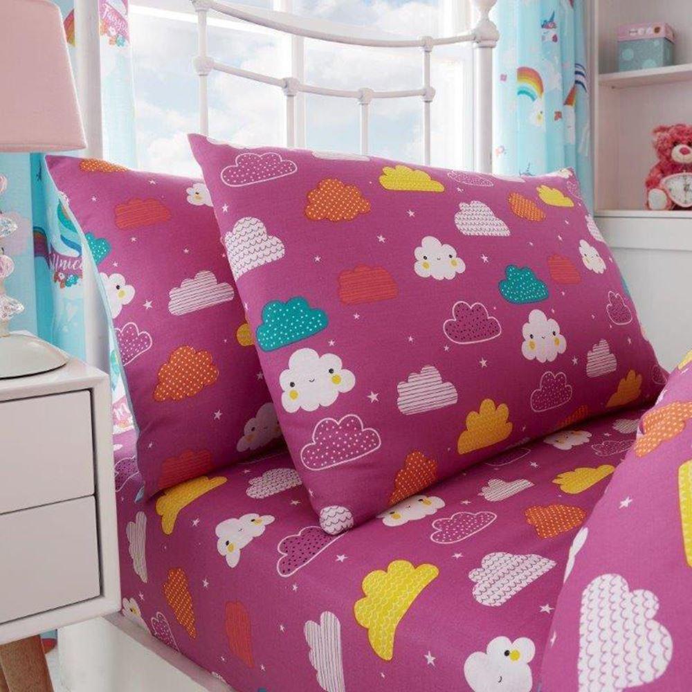 magique licorne nuages filles set housse de couette simple. Black Bedroom Furniture Sets. Home Design Ideas