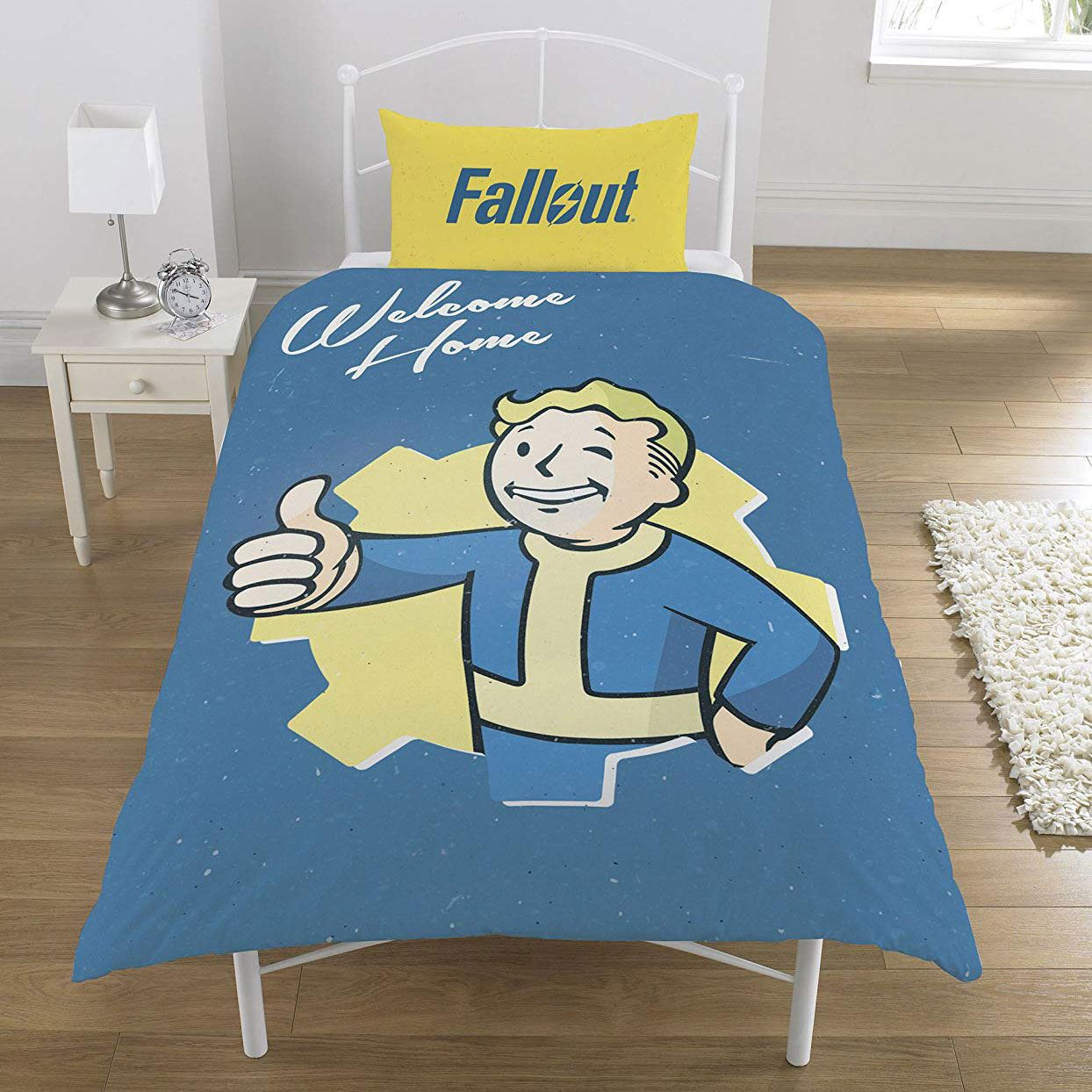 Fallout Vault Boy Single Duvet Cover Set Reversible Kids