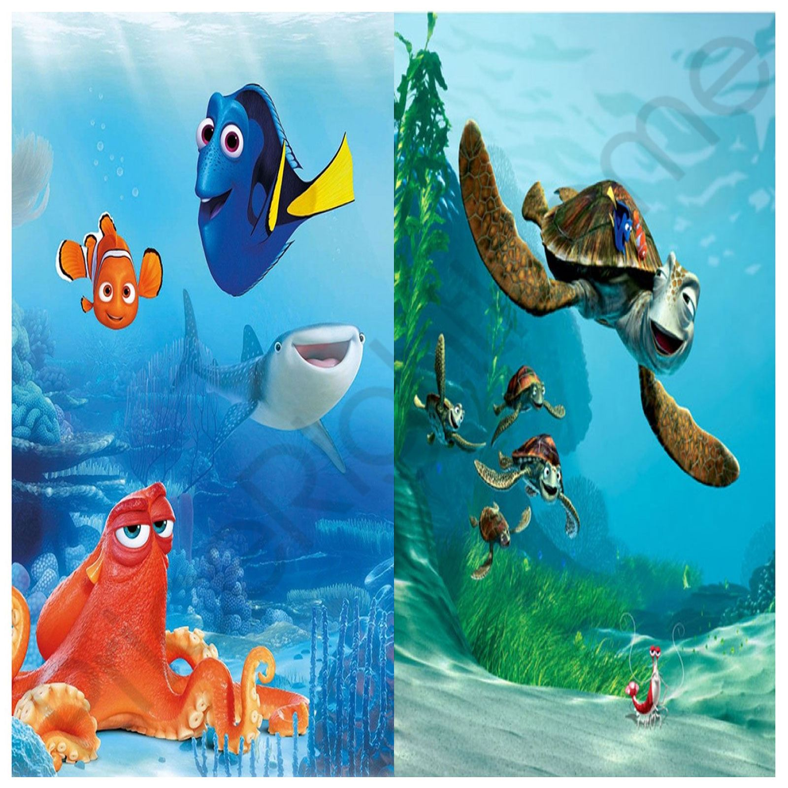 FINDING DORY NEMO FRIENDS CRUSH WALL MURALS UNDERWATER COLOURFUL