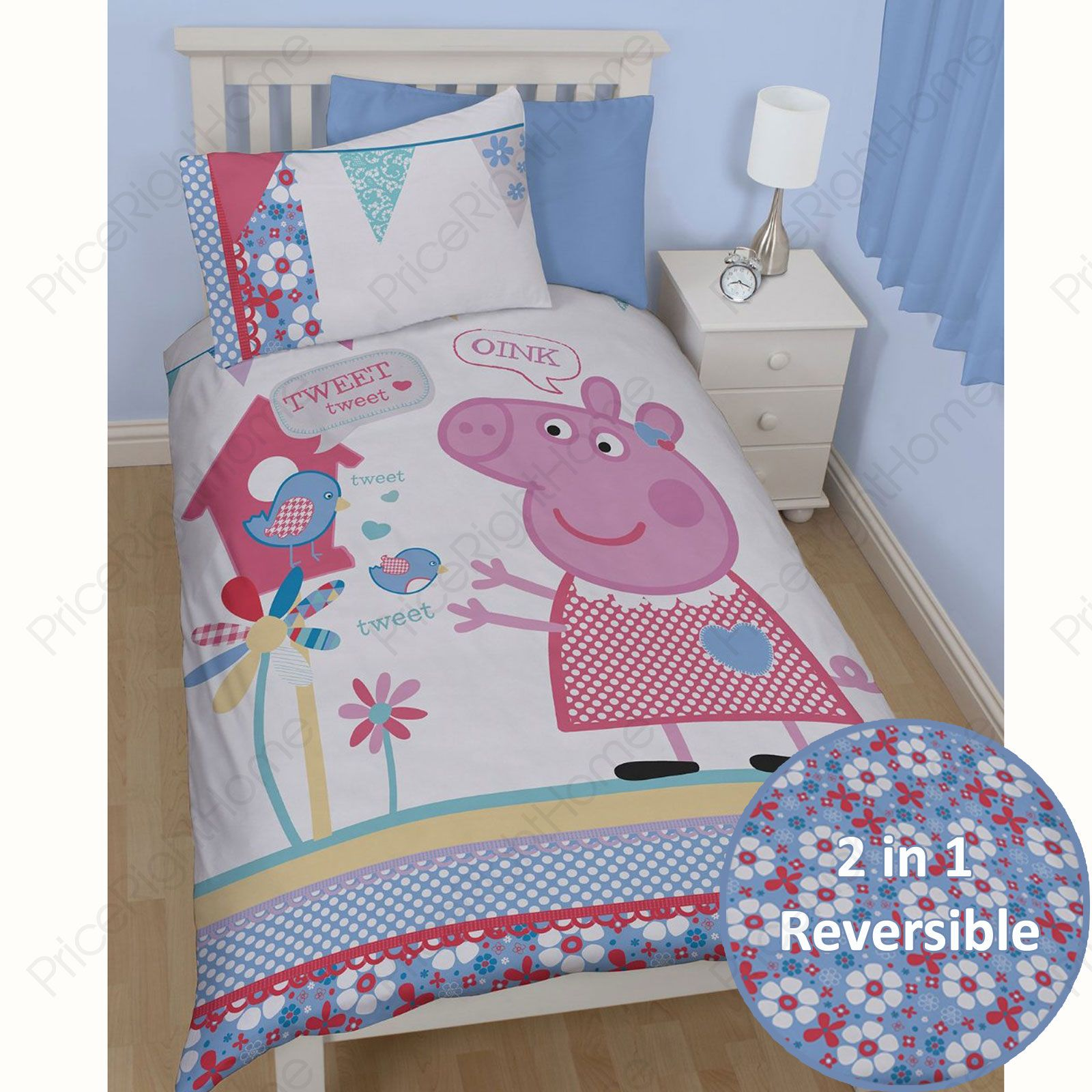 Peppa pig and george bedding single double junior for George pig bedroom ideas