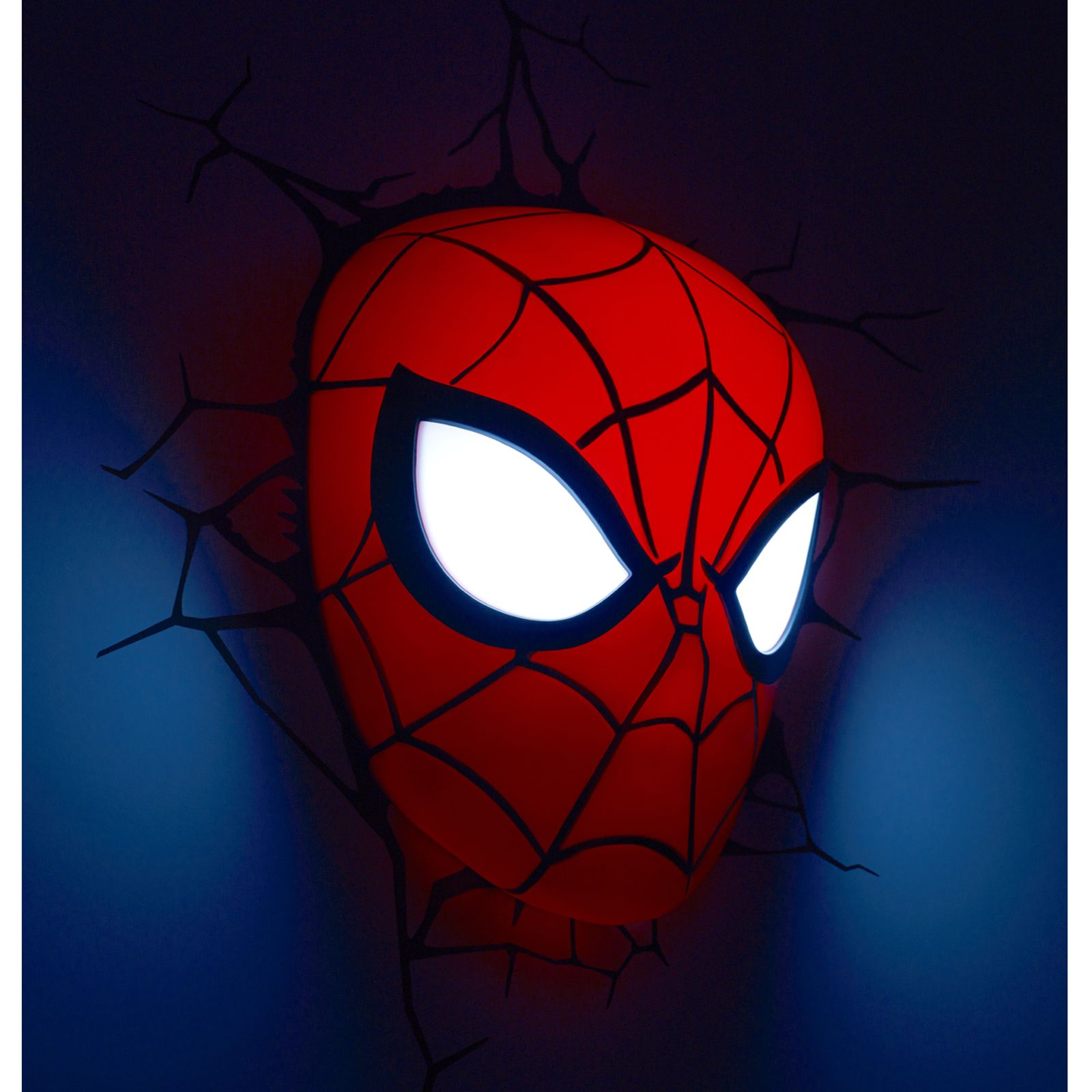 Wall Lamps Marvel : MARVEL SPIDERMAN 3D LED WALL LIGHT LAMP MASK + STICKERS NEW eBay