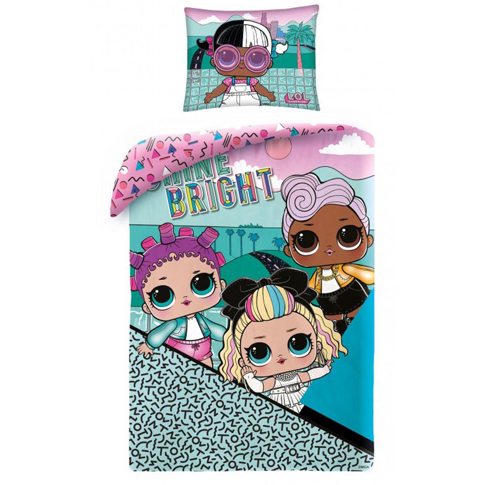 LOL Surprise Opposites Dolls Single Duvet Cover /& Pillowcase Set Girls Bedding