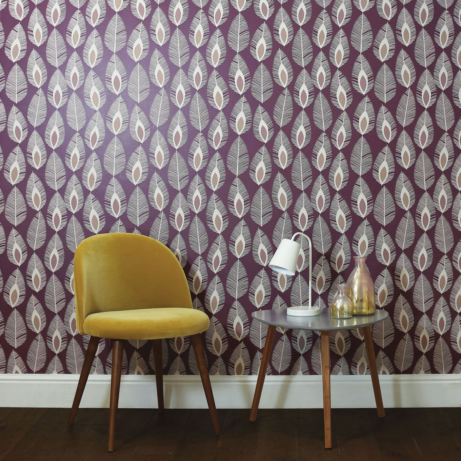 Arthouse Glam Feather Cream 904508 Paste the Wall Feature Wallpaper