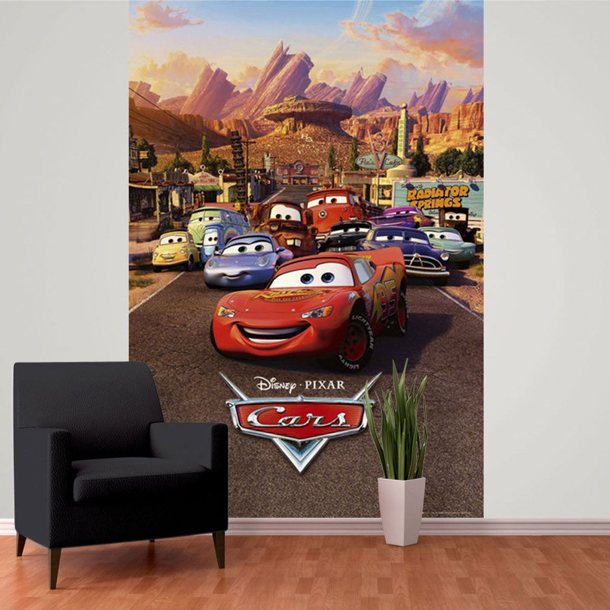 Disney Cars Wall Murals 6 Designs Available Kids Bedroom 100