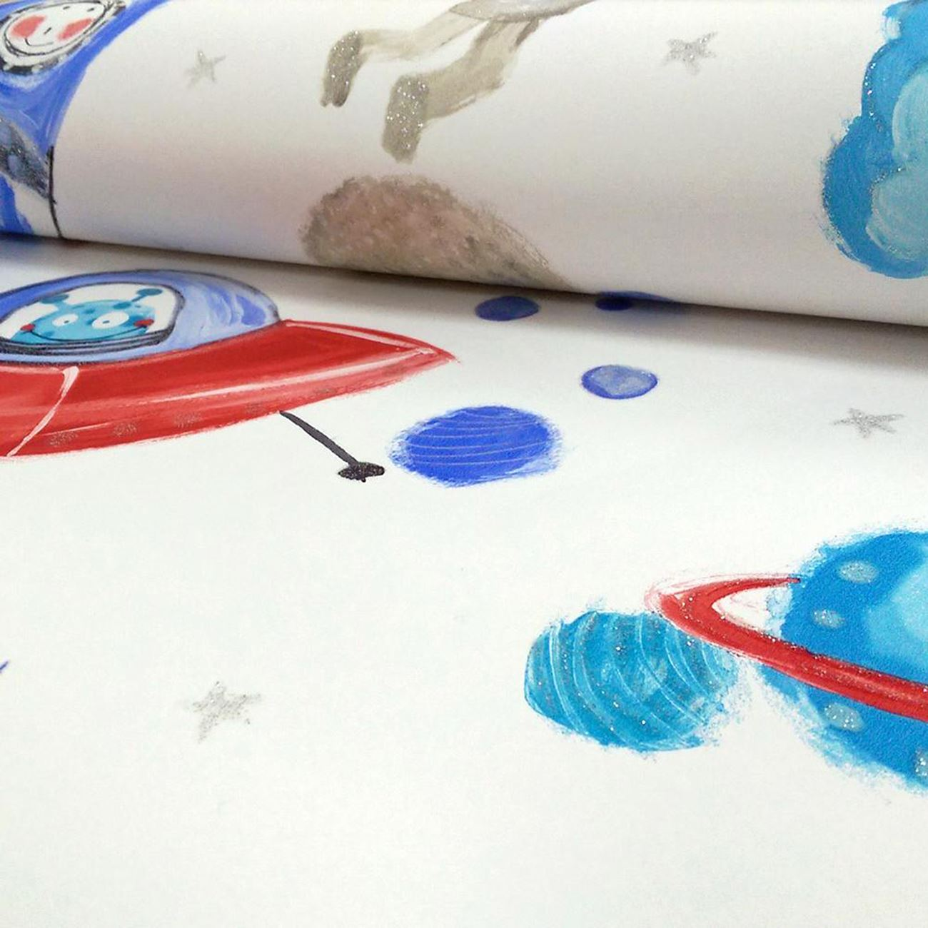 ARTHOUSE-GLITTER-DETAIL-KIDS-WALLPAPER-BEDROOM-UNICORN-MERMAID-SPACE thumbnail 76