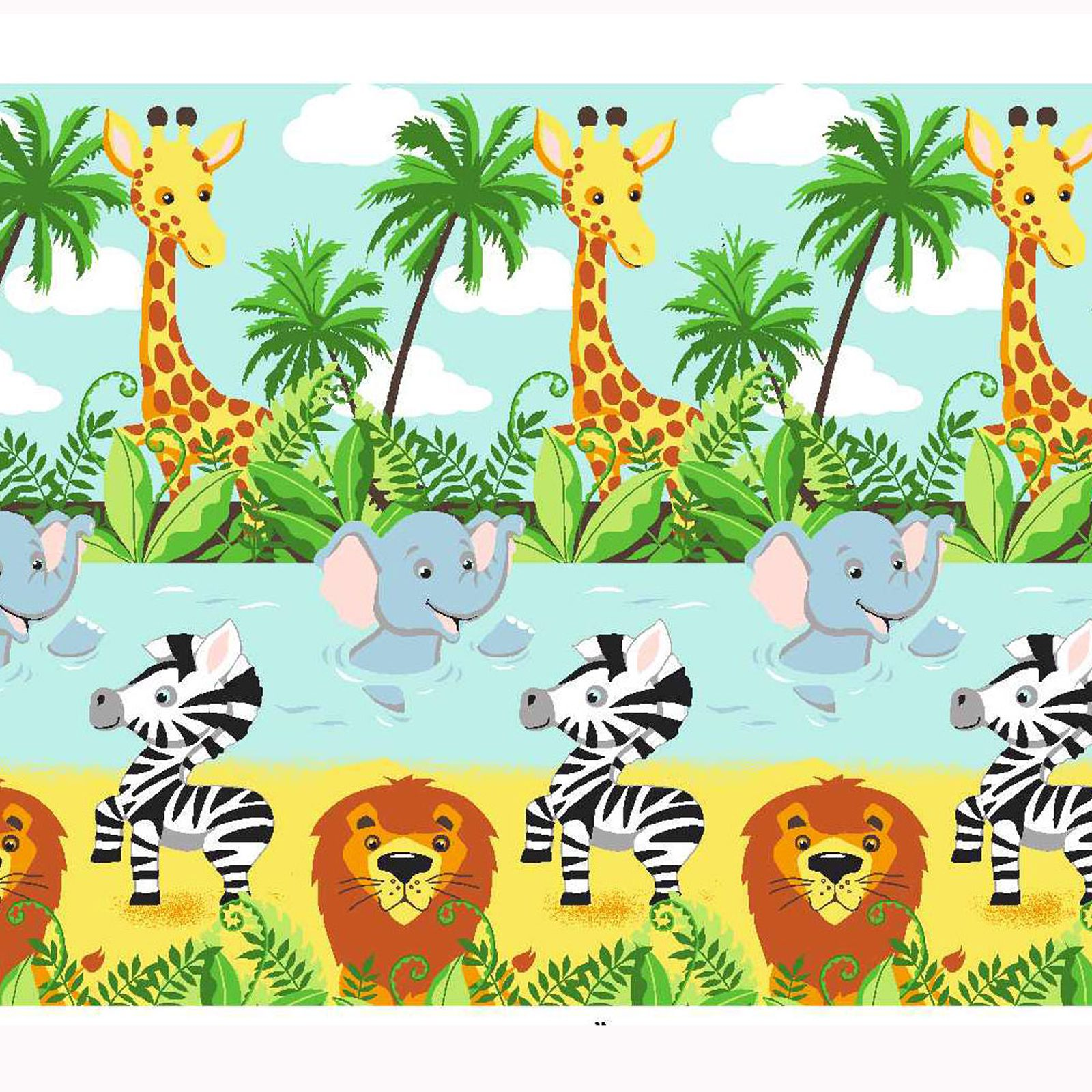 Jungle Tastic Animal A Thème Literie Chambre – Simple, Bébé & Double ...