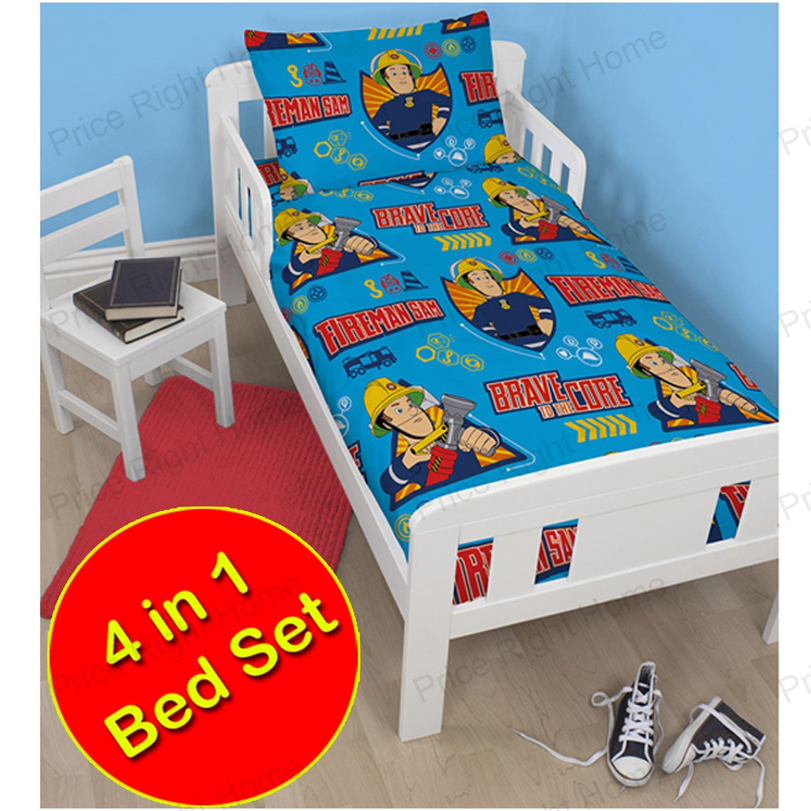 fireman sam bettw sche einzel doppel junior bettbezug sets jungen ebay. Black Bedroom Furniture Sets. Home Design Ideas