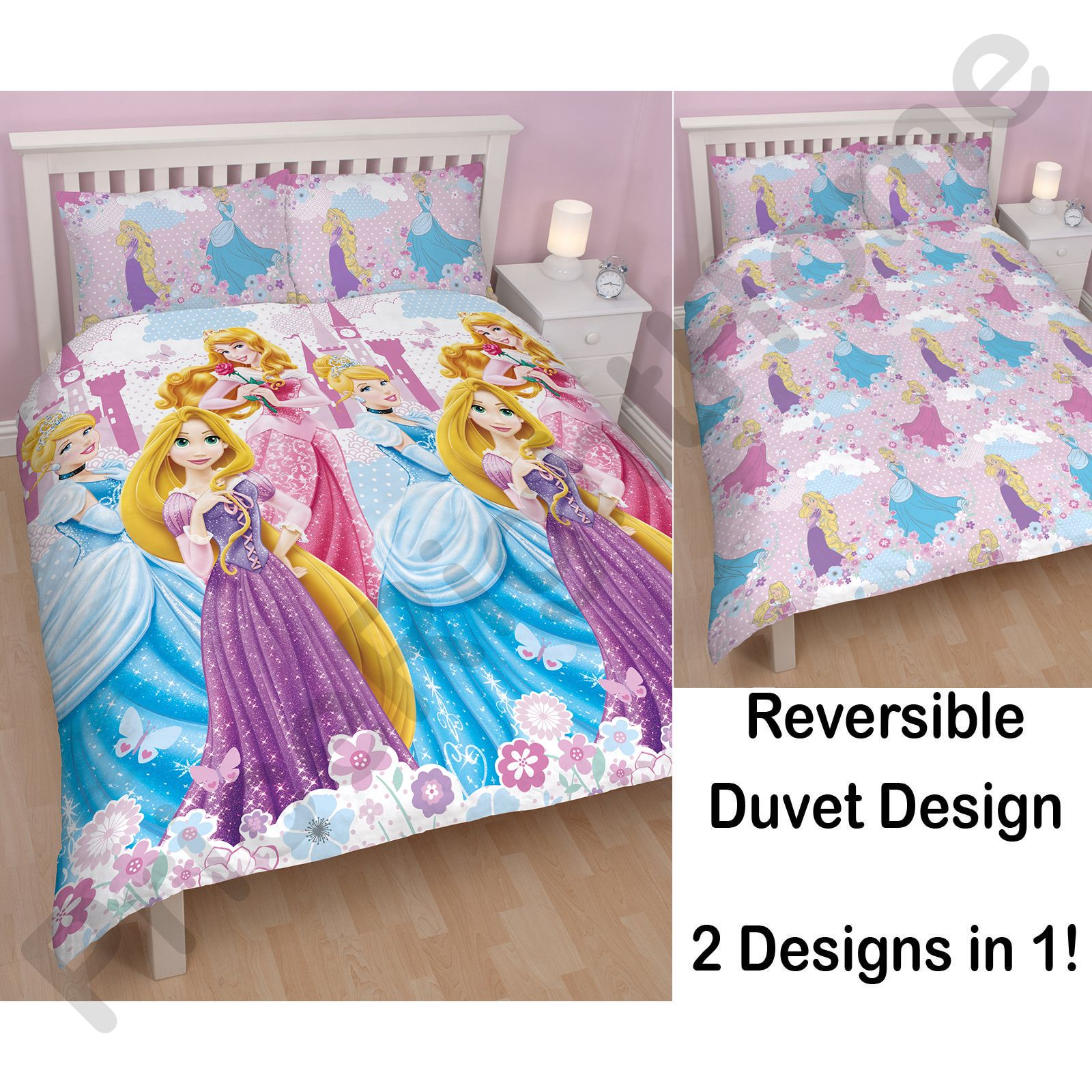 DISNEY PRINCESS DUVET COVER BEDDING SETS SINGLE DOUBLE