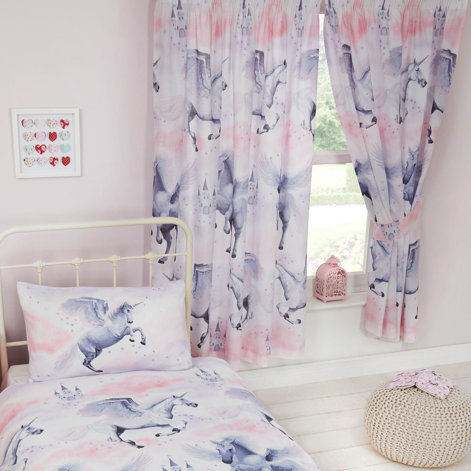 STARDUST UNICORN DUVET COVER SETS & MATCHING CURTAINS